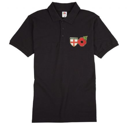 "Poppy Polo Shirt ""England Shield""      ."